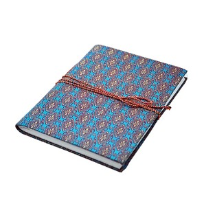 blue brocade notebook