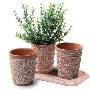 set of 3 herb planters